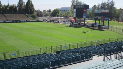 L'actuel stade des Earthquakes, le Buck Shaw Stadium