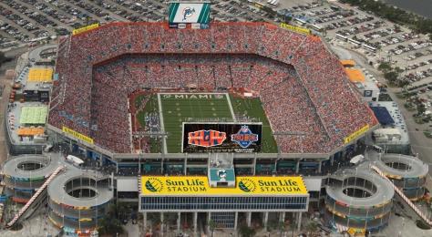Le Sun Life Stadium, futur stade de la franchise de Miami? Un poil trop grand pour l'être, non?